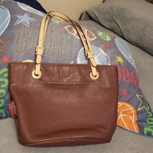 Michael kors wine purse used leather